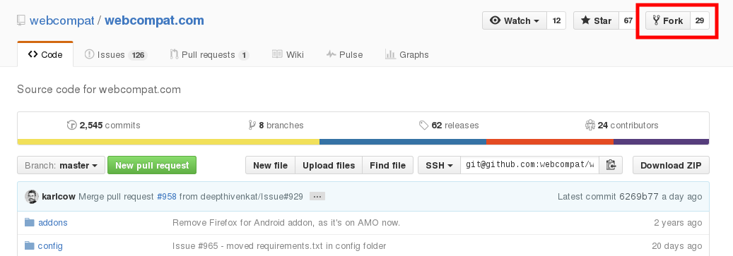 Créer un fork avec GitHub